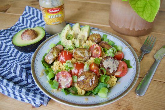vegan salade met falafel