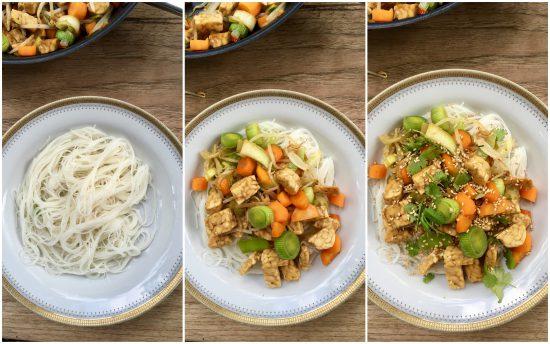 quirines recept noodles en tempeh