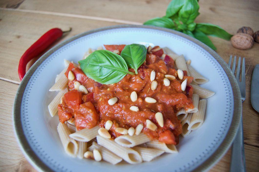 vegan pasta arrabiata
