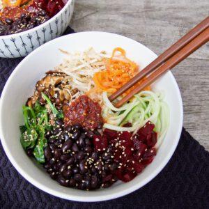 vegan bibimbap recept