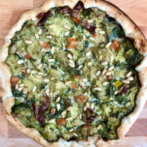 vegan quiche broccoli