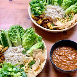 vegan saté-bowl