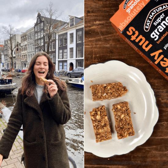 vegan snack pindakaas granola bars