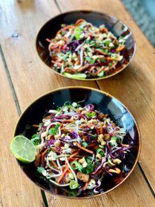 vegan rainbow pad thai recept