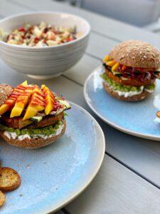 vegan burger mango