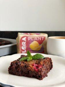 vegan brownies framboos