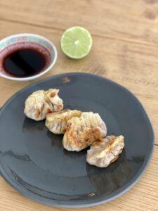 vegan dumplings gebakken