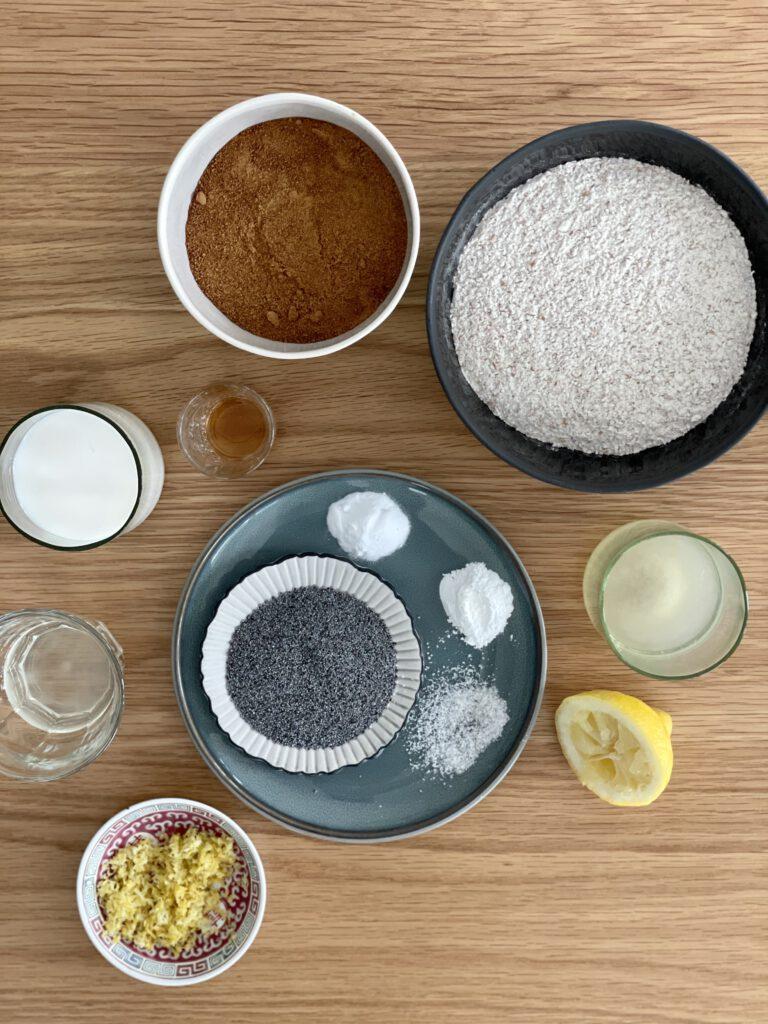 ingrediënten citroen maanzaad cake