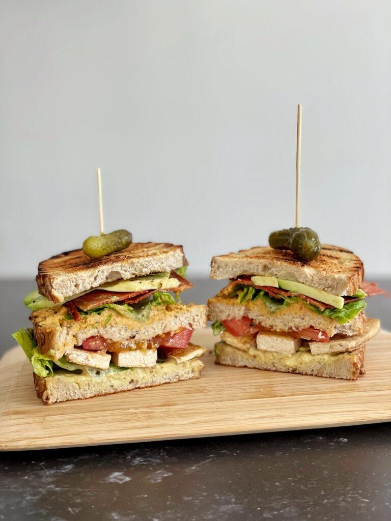 vegan club sandwich